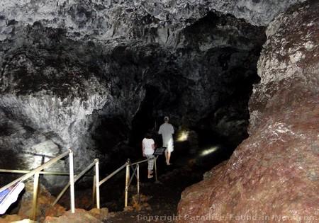 Picture of the skylight entrance to the Hana Lava Tube (Kaeleku Caverns) on the island of Maui, Hawaii.