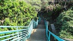 Picture of staircase to Mokule'ia Bay, Kapalua, Maui, Hawaii.