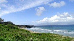 Picture of Oneloa Beach in Kapalua, Maui.