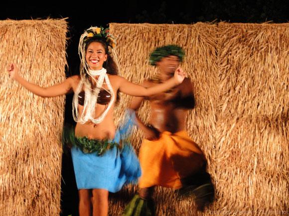 Hula dancers at the Sheraton Luau in Maui.