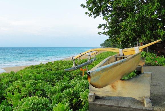 Traditional Hawaiian Outrigger Canoe
