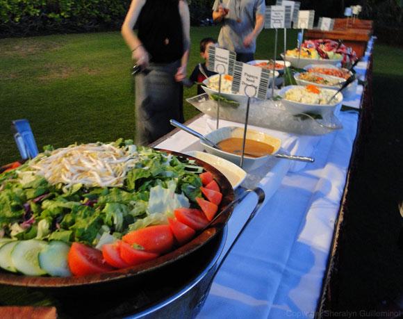 buffet dinner at the sheraton luau on Maui