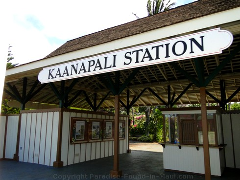 Picture of the Sugar Cane Train Kaanapali Station in Maui, Hawaii.