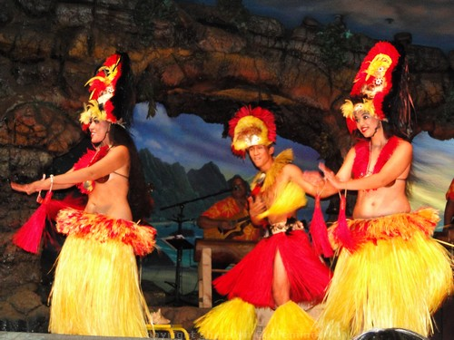 Dancers at the Drums of the Pacific Luau at the Hyatt Maui