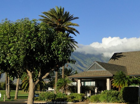Picture of the clubhouse where we stopped for breakfast on our Hana Tour - the Dunes at Maui Lani.