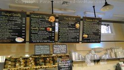 Picture of the menu at the Honolua Store Deli.