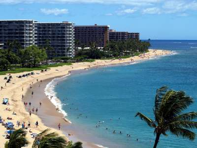 Kaanapali Beach Maui View from the Sheraton Lookout