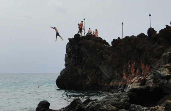 Jumping off Black Rock