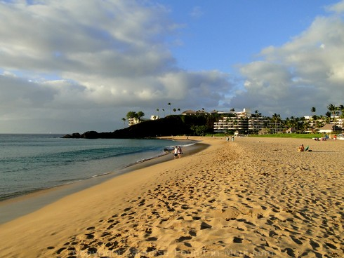 Picture of the view of north Kaanapali Beach and Black Rock, Maui.