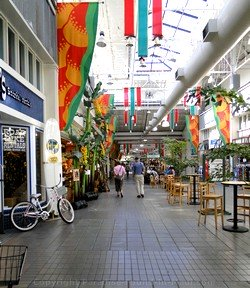 Picture of the Lahaina Cannery Mall interior on Maui, Hawaii.