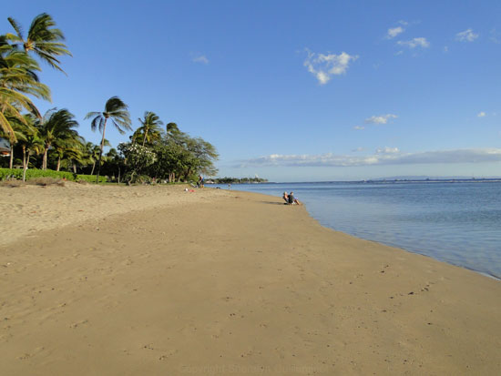 Relaxing on Baby Beach in Lahaina.