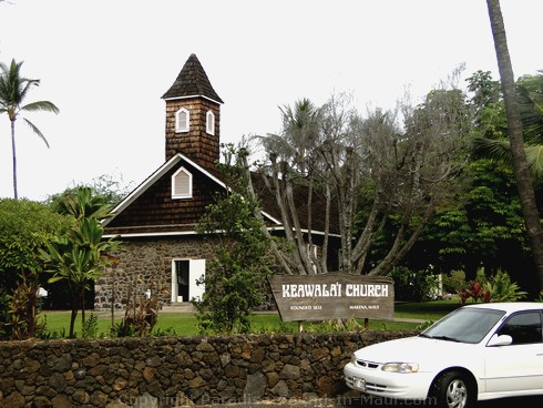 Picture of Keawalai Church, Maui Hawaii.
