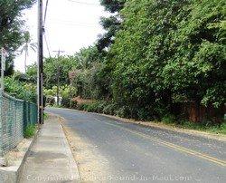 Picture of Makena Road, Maui, Hawaii.