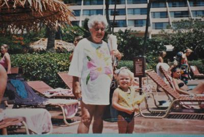Then- Maui Marriott Pool with my Grandma