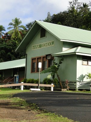 Picture of the Hana School in the town of Hana, Maui, Hawaii.