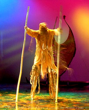 Picture of spirit being at Ulalena at the Maui Theater
