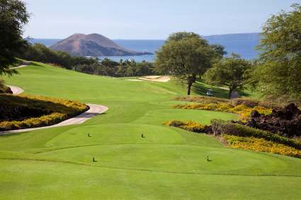 maui golf courses in Wailea with ocean view