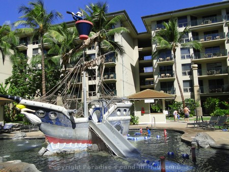 Picture of the pirate ship kids pool at the Westin Kaanapali Ocean Resort Villas.