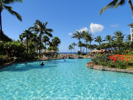 Picture of the grounds and swimming pools at the Westin Kaanapali Ocean Resort Villas