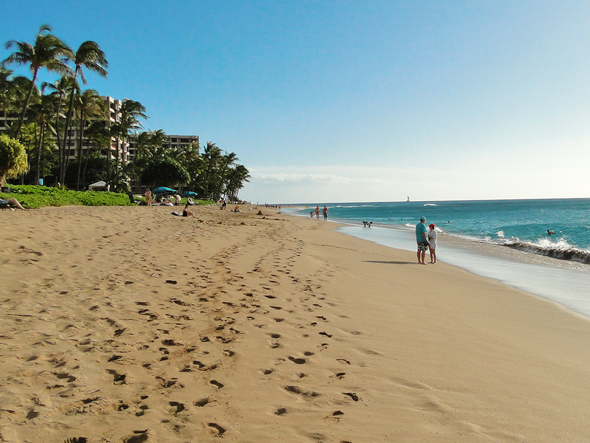 Kaanapali Beach is in front of the shopping center.